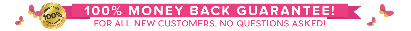 100% Money Back Guarantee for ALL New Customers. No Questions Asked!